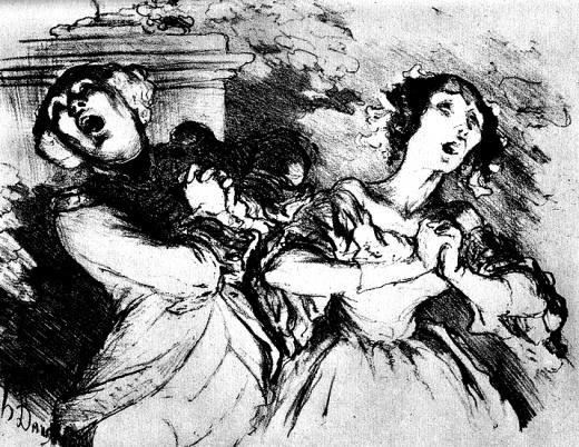Daumier-Karikatur: Duett